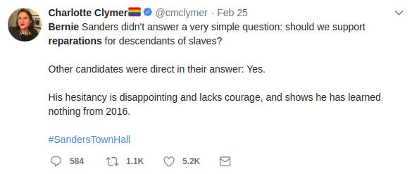 reparations tweet